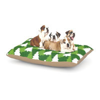 East Urban Home Heidi Jennnings 'Pine Forest' Dog Pillow with Fleece Cozy Top Size: Small (40