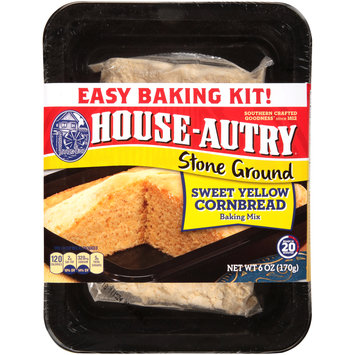 House-Autry® Stone Ground Sweet Yellow Cornbread Baking Mix 6 oz. Pack
