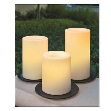 Darby Home Co 3 Piece Flameless Pillar Candle Set Color: White
