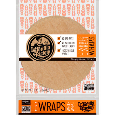 La Tortilla Factory™ Whole Wheat Wraps 8.46 oz. Bag