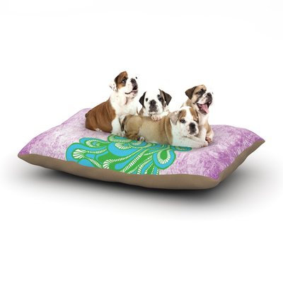 East Urban Home Geordanna Cordero-Fields 'Beauty in Waiting' Dog Pillow with Fleece Cozy Top Size: Large (50