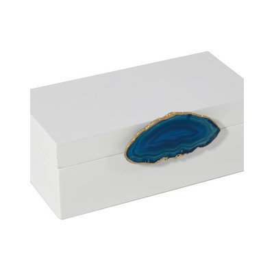 Mapleton Drive Lacquer Box with Agate Knob