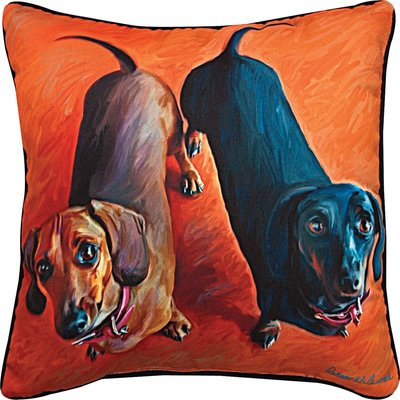 Manual Woodworkers and Weavers SLDDDH Paws And Whiskers Double Dachsies Dachshun