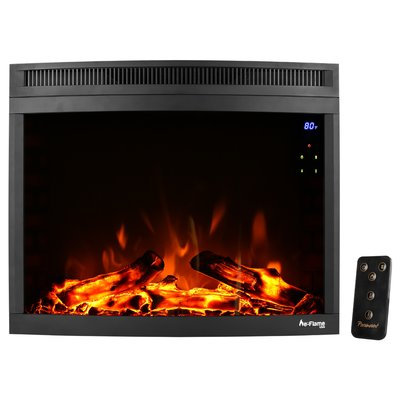 E-flame Curved LED Electric Fireplace Insert