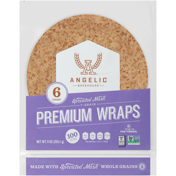 Angelic Bakehouse Sprouted Mash™ 7-Grain Premium Wraps 9 oz. Bag