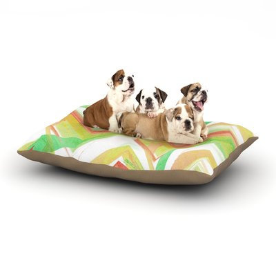 East Urban Home Alison Coxon 'Summer Party Chevron' Dog Pillow with Fleece Cozy Top Size: Large (50