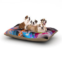 East Urban Home Michael Sussna 'Sticker Thicket' Dog Pillow with Fleece Cozy Top Size: Small (40
