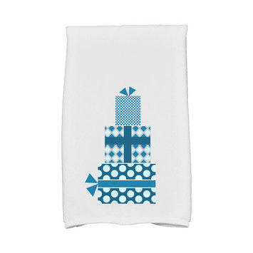 Mercury Row Holiday Wishes Gift Wrapped Hand Towel Color: Teal