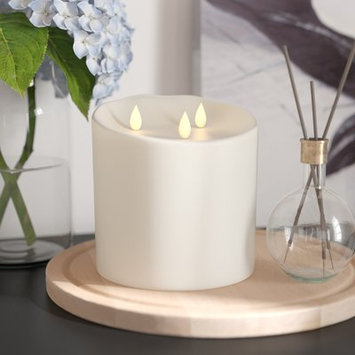 Red Barrel Studio LightLi Moving Flame Wax Unscented Flameless Candle