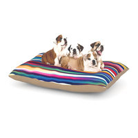 East Urban Home Danny Ivan 'Blurry Lines' Dog Pillow with Fleece Cozy Top Size: Large (50