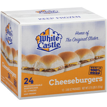 White Castle® Cheeseburgers 12-3.66 oz. Packs