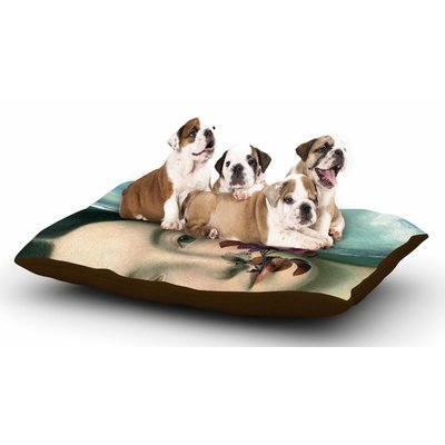 East Urban Home Suzanne Carter 'Emerge' Floral Dog Pillow with Fleece Cozy Top