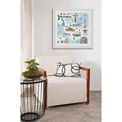 Marmont Hill Inc Marmont Hill - 'Vancouver' by Molly Rosner Framed Painting Print