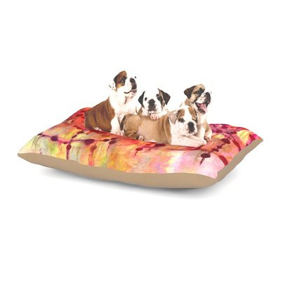 East Urban Home Ebi Emporium 'Prismacolor Pearls' Dog Pillow with Fleece Cozy Top Size: Large (50