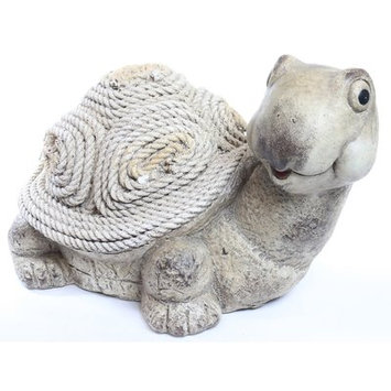 August Grove Stasia Turtle Rope Figurine