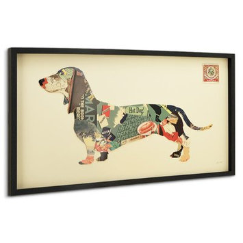Latitude Run 'Dachshund' Framed Graphic Art Print