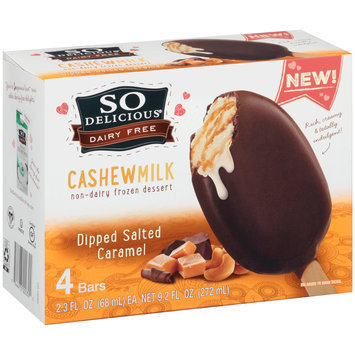 So Delicious® Dairy Free Dipped Salted Caramel Frozen Dessert 4-2.3 fl. oz. Box