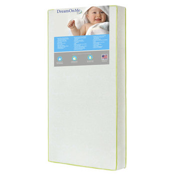 Dream On Me Industries Inc Dream On Me BR-51E5CL Breathable 6 in. Core Little Butterflies Crib and Toddler Bed Mattress - Little Butterflies