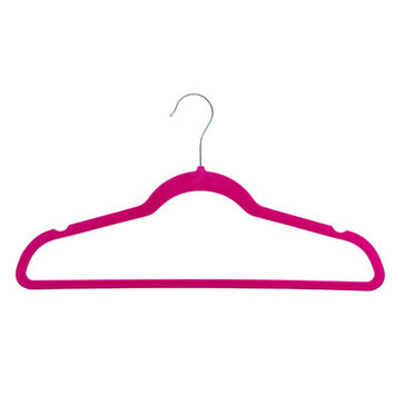 Zen Closet Ultra Thin Heavy Duty Velvet Suit Non-Slip Hanger Color: Fuschia