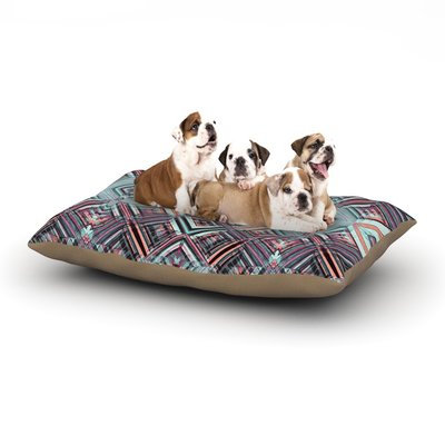 East Urban Home Gabriela Fuente 'Watercolor Caledoscope' Dog Pillow with Fleece Cozy Top Size: Small (40