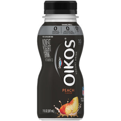 Dannon® Oikos® Nonfat Yogurt Drink Peach 7fl oz Single Serve