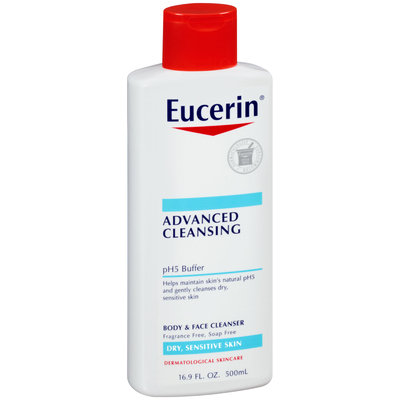 Eucerin® Advanced Cleansing Body & Face Cleanser 16.9 fl. oz. Squeeze Bottle
