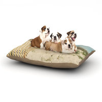 East Urban Home Jillian Audrey 'Cape Dunes' Dog Pillow with Fleece Cozy Top Size: Large (50