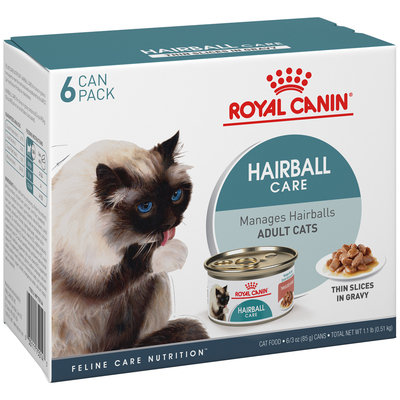 Royal Canin® Hairball Care Thin Slices in Gravy Wet Cat Food 6-3 oz. Cans