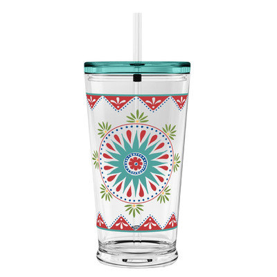 TarHong 1 Piece Hydration Medallion Sipper Tumbler Set, 20 oz, Rio, Multicolored