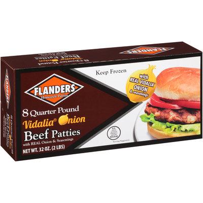 Flanders Homestyle Patties 8 Quarter Pound Vidalia® Onion Beef Patties 32 oz. Box