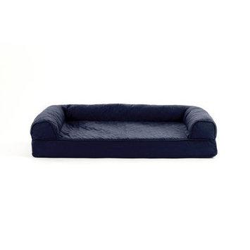 FurHaven Quilted Cooling Gel Top Sofa Pet Bed Navy