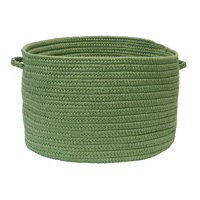 Charlton Home Utility Basket Color: Moss Green, Size: 14