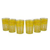 Casablanca Market Tea Time Bahia 8 oz. Tea Glass Set Color: Yellow