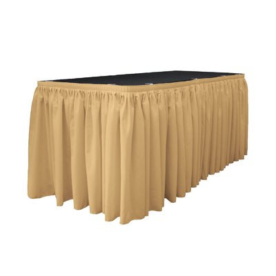 La Linen Table Skirt Color: Khaki