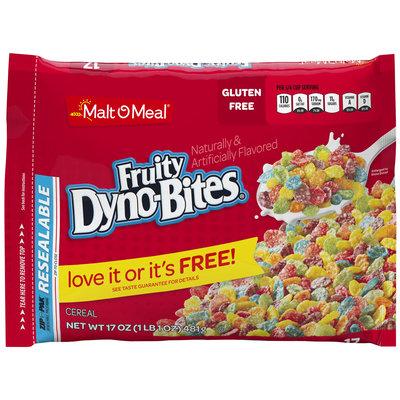 Malt-O-Meal® Fruity Dyno-Bites® Cereal 17 oz. ZIP-PAK®