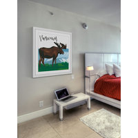 Marmont Hill Inc Marmont Hill - 'Vancouver Moose' by Molly Rosner Framed Painting Print