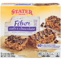 Stater Bros.® Fiber Oats & Chocolate Chewy Granola Bars 5-1.4 oz. Wrappers