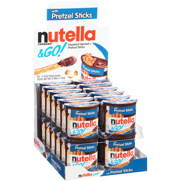 Nutella® & Go! Hazelnut Spread + Pretzel Sticks 24-1.9 oz. Packs