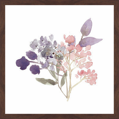 Marmont Hill Inc Marmont Hill - 'Watercolor Bouquet 3' by Shayna Pitch Framed Painting Print