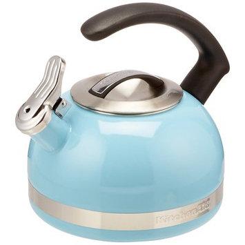 KitchenAid 2-Quart Steel Band Tea Kettle Whistle /C Handle kten20cbeu Cameo Blue
