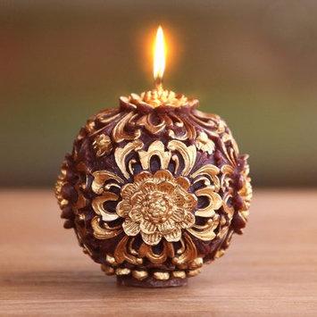 Novica Floral Orb Jar Candle