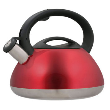 Creative Home Sphere 12-Cup Tea Kettle with Stainless Steel in Metallic Cranberry 72991