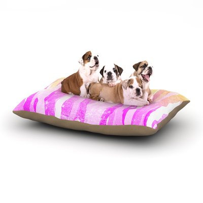 East Urban Home Frederic Levy-Hadida 'Jungle Stripes' Painting Dog Pillow with Fleece Cozy Top Size: Small (40