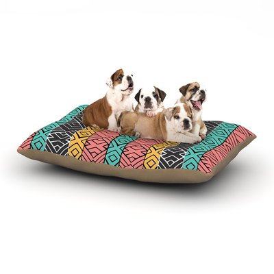 East Urban Home Pom Graphic Design 'Artisian' Dog Pillow with Fleece Cozy Top Size: Small (40