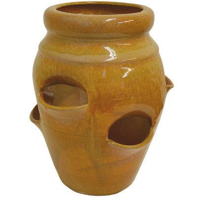 Craftware Round Pot Planter Color: Honey