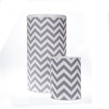 Sweet Potato By Glenna Jean Swizzle 2 Piece Chevron Hamper and Waste Can Set Color: Gray