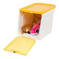 Iris 22 Quart Plastic Flap Box Color: Yellow