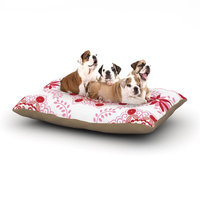 East Urban Home Anneline Sophia 'Let's Dance' Floral Dog Pillow with Fleece Cozy Top Size: Large (50