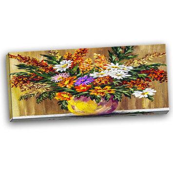Design Art Designart Wild Flowers In A Pot Floral Art CanvasPrint