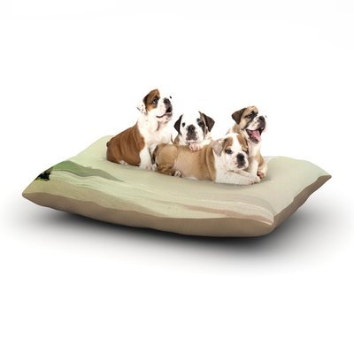 East Urban Home Alison Coxon 'Roam' Ocean Dog Pillow with Fleece Cozy Top Size: Small (40